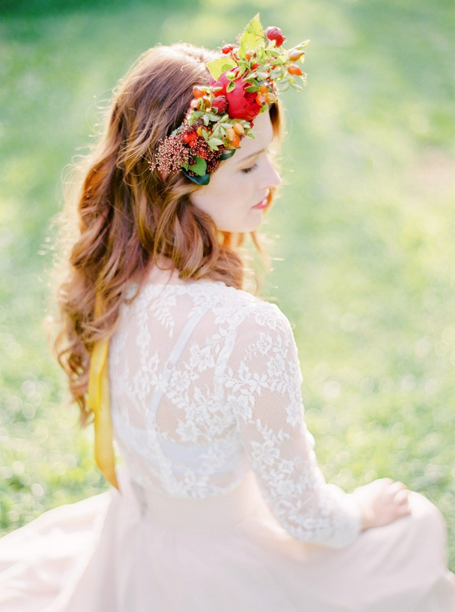 oversized floral crown the wild rose weddings