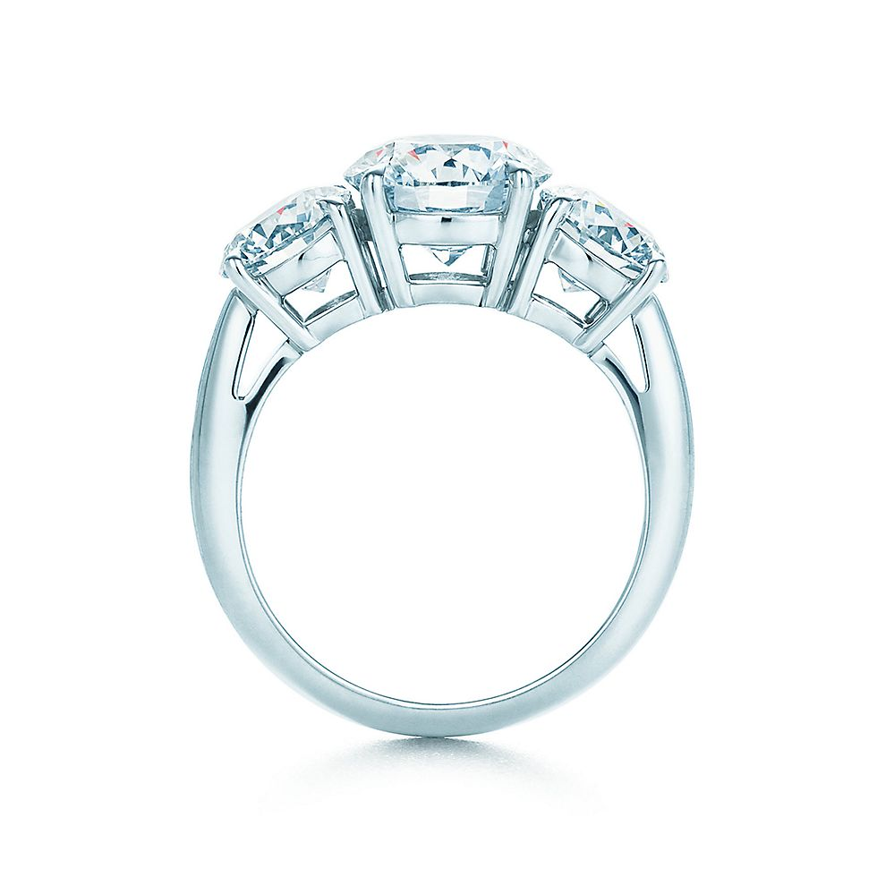 Congenial Round Three Stone 21877395 Stnd Tf Ml R1 Round Engagement Rings Without Halo Round Engagement Rings 3 Carat wedding rings Round Engagement Rings