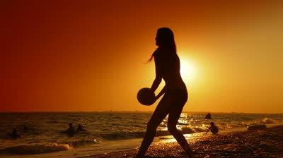 sunset beach volleyball lovesurf
