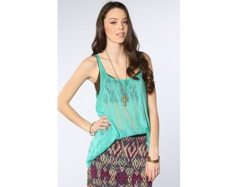Ethereal Knit Tank in Aqua lovesurf
