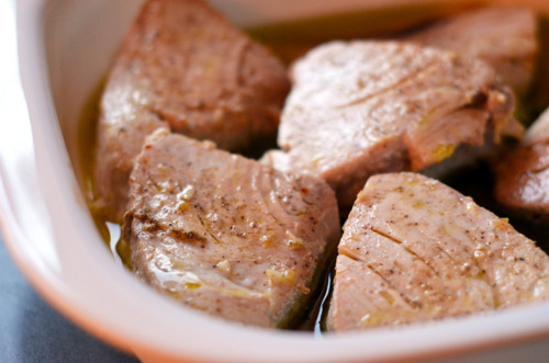 Paleo Poached Tuna Steaks
