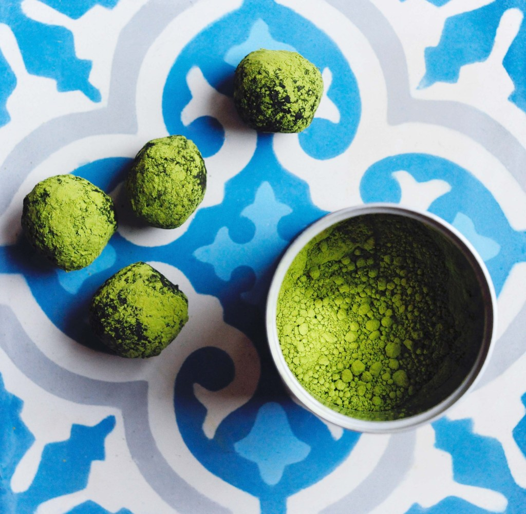 Japanese bancha och matcha té