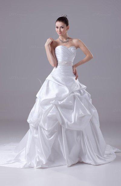 White Cinderella Outdoor Sweetheart Sleeveless Zipper ...