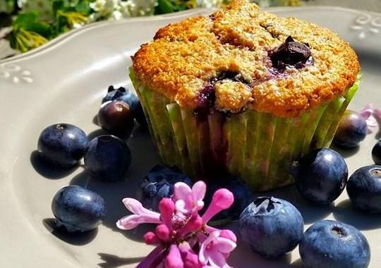 Nyttiga blåbärsmuffins