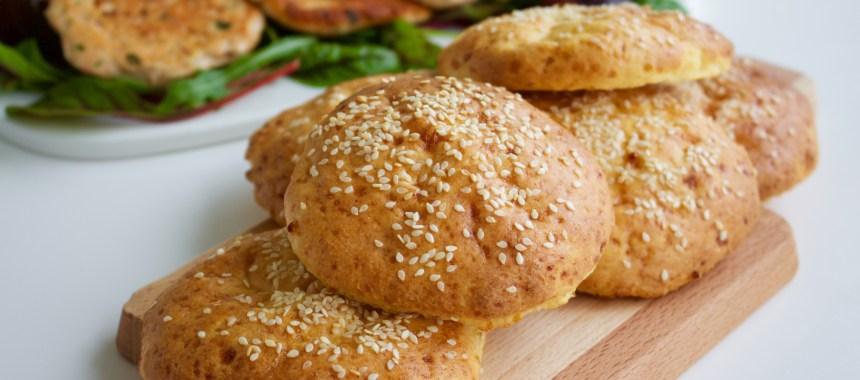 Nyttig glutenfri hamburgerbröd