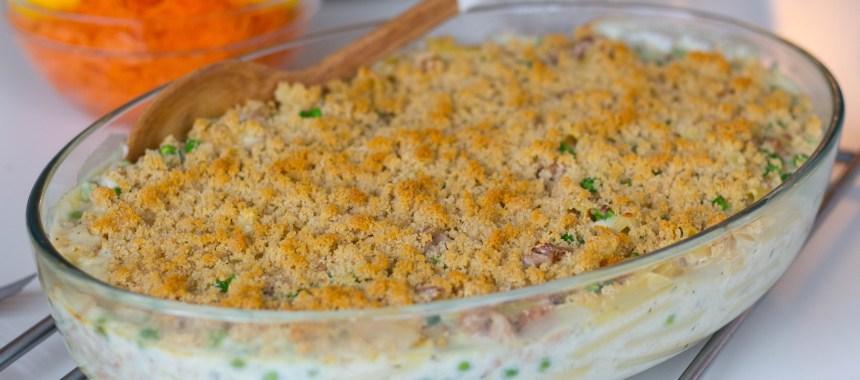 Tonfiskgratäng med pasta