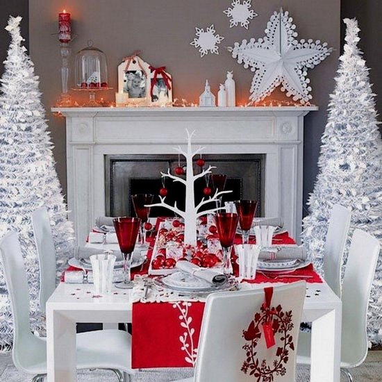 red and white theme