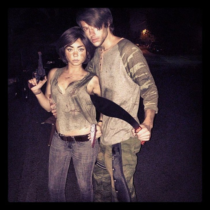 Sarah Hyland and her boyfriend Matt Prokop were characters from The Walking Dead.<br /><br /> Source: Instagram user therealsarahhyland<br /><br />