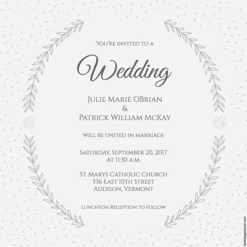 Medium Crop Of Free Wedding Invitation Templates