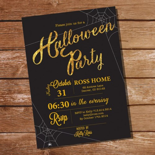 Medium Crop Of Halloween Party Invitations