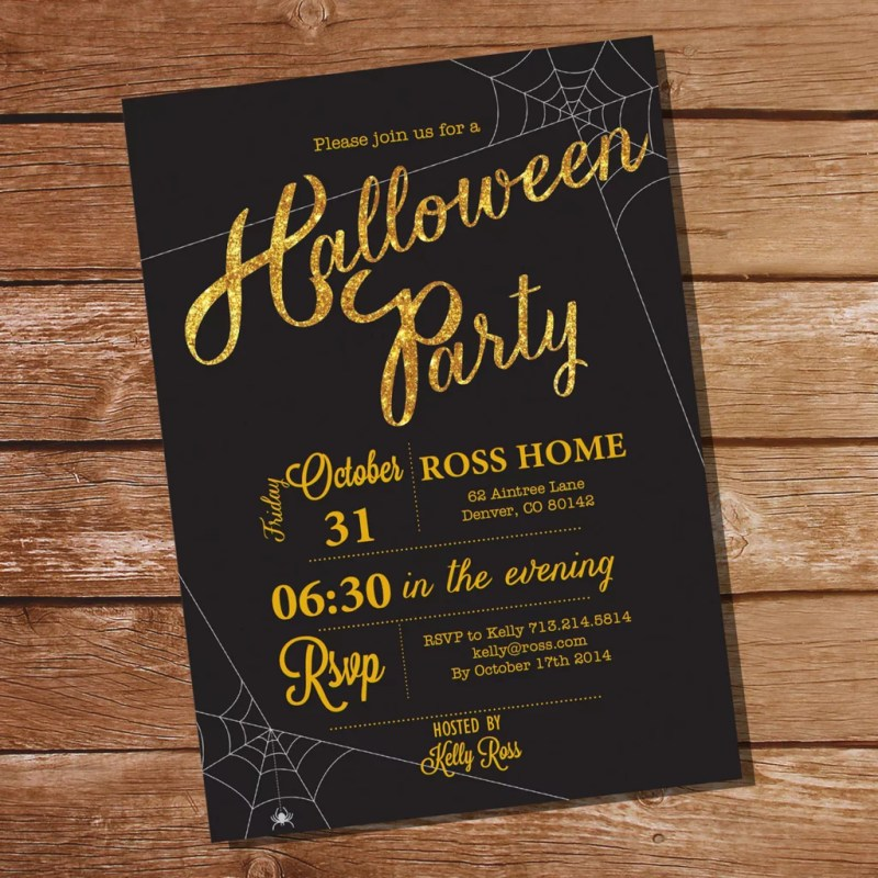 Large Of Halloween Party Invitations