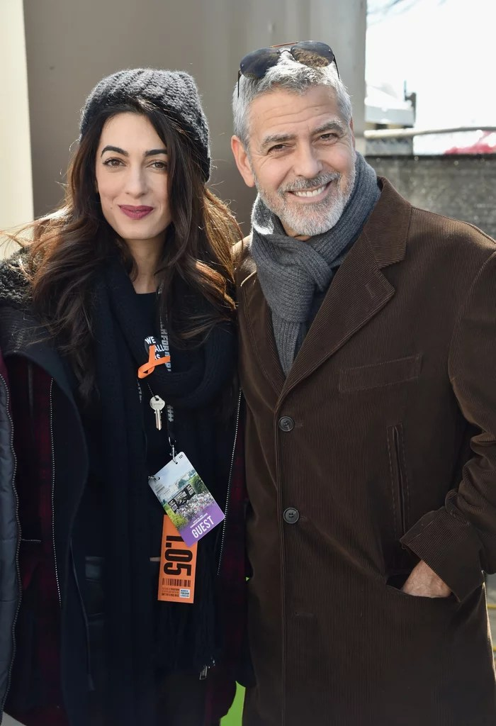 George and Amal Clooney at March For Our Lives 2018   POPSUGAR Celebrity George and Amal Clooney were among the thousands of people who gathered for  the March For