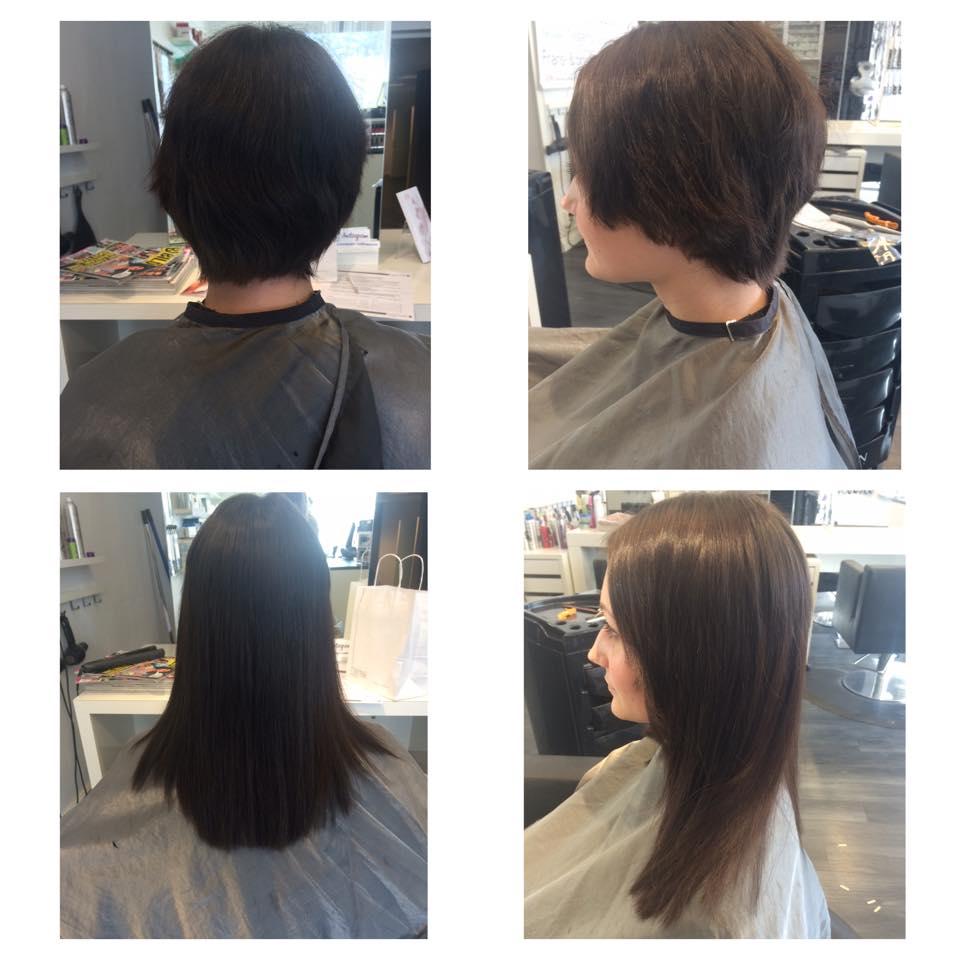 förlänga kort hår