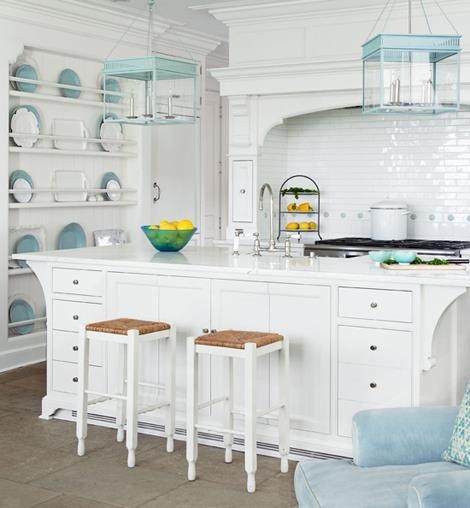 county kitchen in white