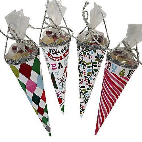 fillable christmas cones