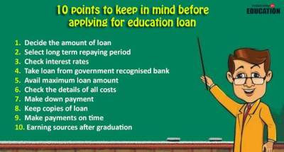 10 quick tips to keep in mind before taking education loan : Featurephilia