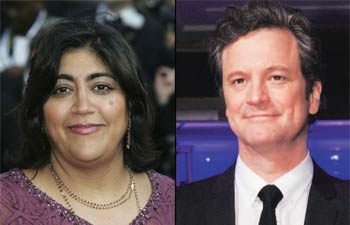 Gurinder Chadha and Colin Firth