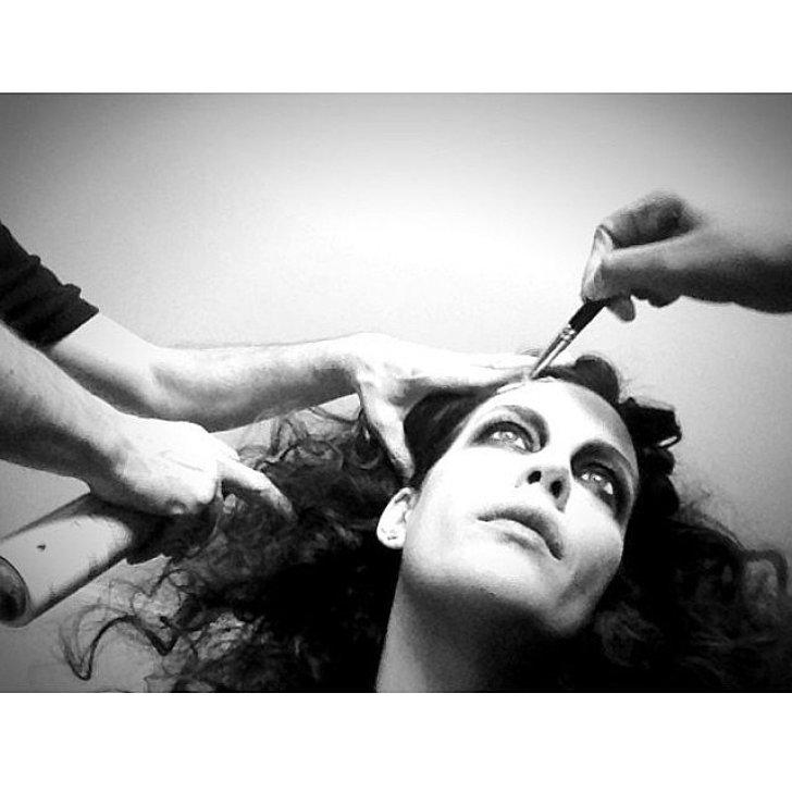 Liv Tyler got her detailed zombie makeup done.<br /><br /> Source: Instagram user misslivalittle<br /><br />