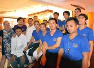 Personalen på Cajutan i Bangkok