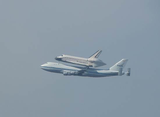 Space Shuttle Endeavour in Moffett