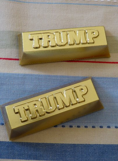 Trumping it with bars of gold