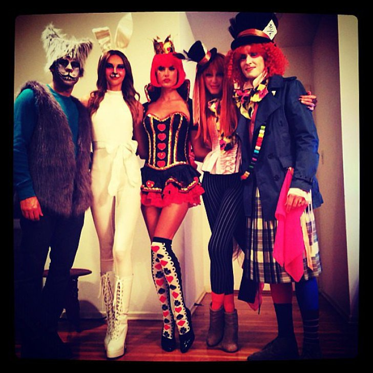 Alessandra Ambrosio dressed up as the Queen of Hearts, channeling Alice in Wonderland with her friends.<br /><br /> Source: Instagram user alessandraambrosio<br /><br />