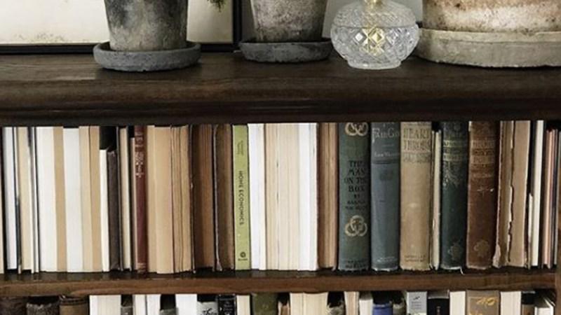 Large Of Books On A Shelf Image