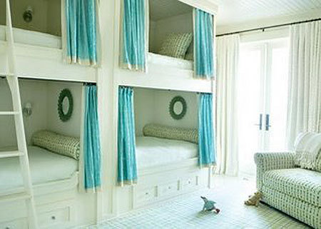 Traditional white with colour splash in curtains
