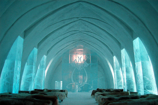 Chapel at Ice Hotel Sweden