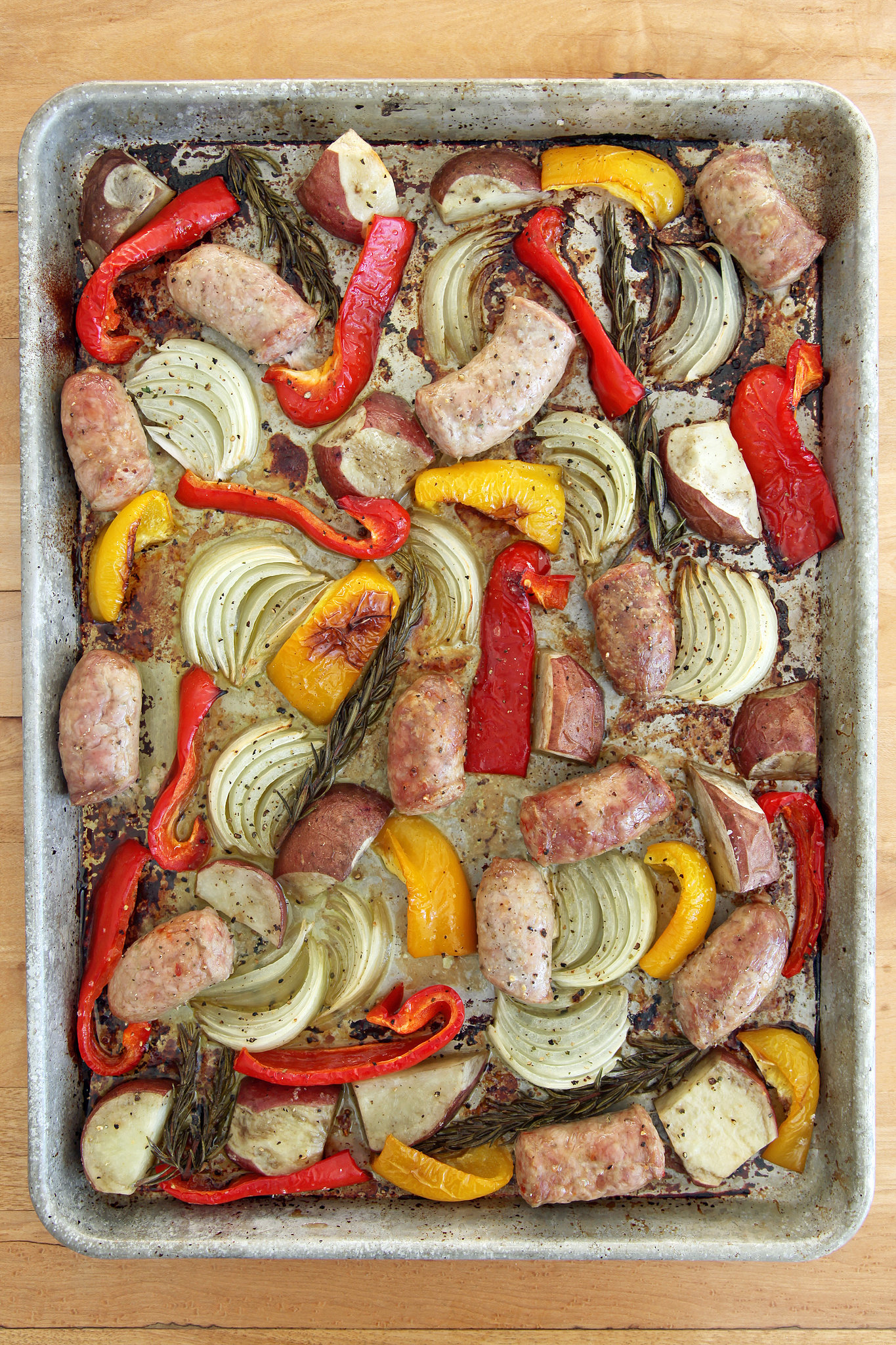 Fullsize Of Sausage And Peppers In Oven