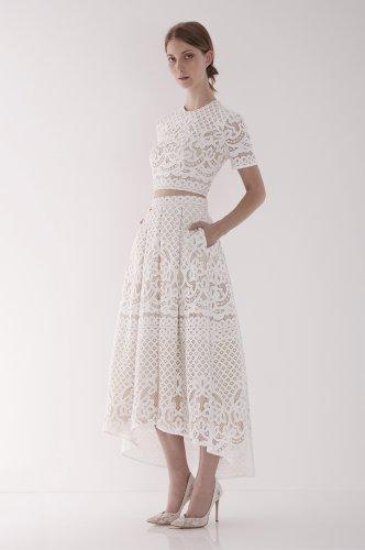 wedding dresses nyc midi wedding dress Libra Crop Top and Midi Skirt 1 21 Wedding Dresses We Bet You