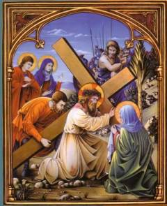 Nosso Senhor Jesus Cristo cai a caminho do Calvário