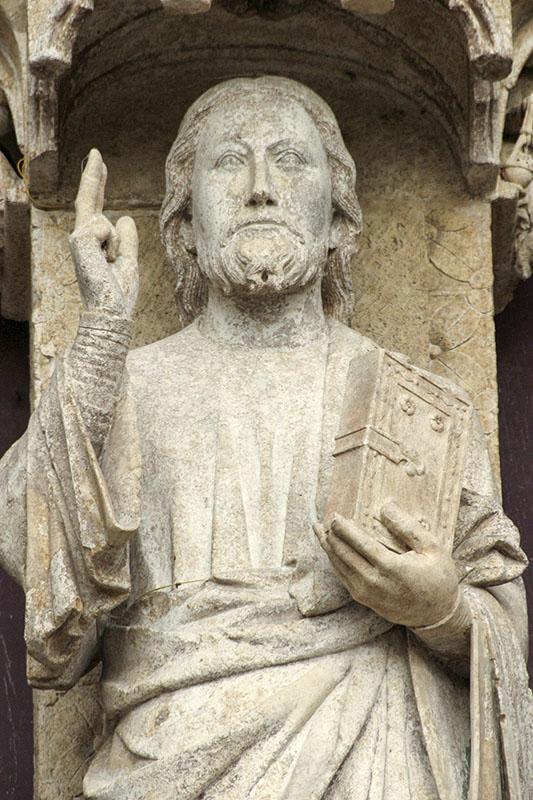 Bom Deus de Amiens. Catedral de Amiens, França