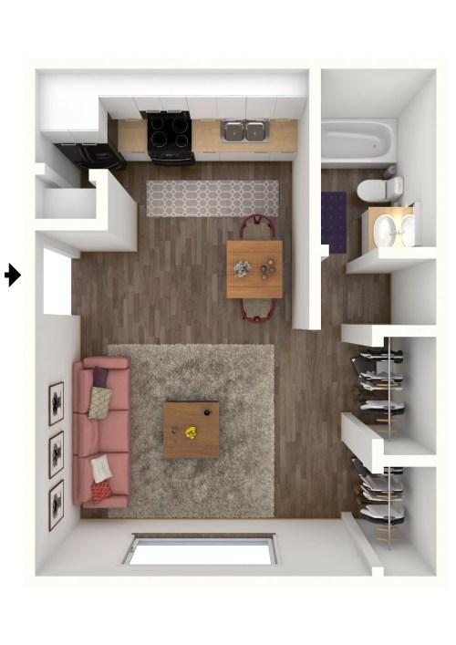 Medium Of Average Studio Apartment Size