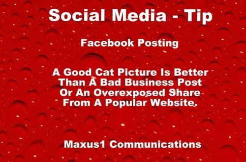 Social Media Tip Facebook Posting 9563325156_5164b15a79_z