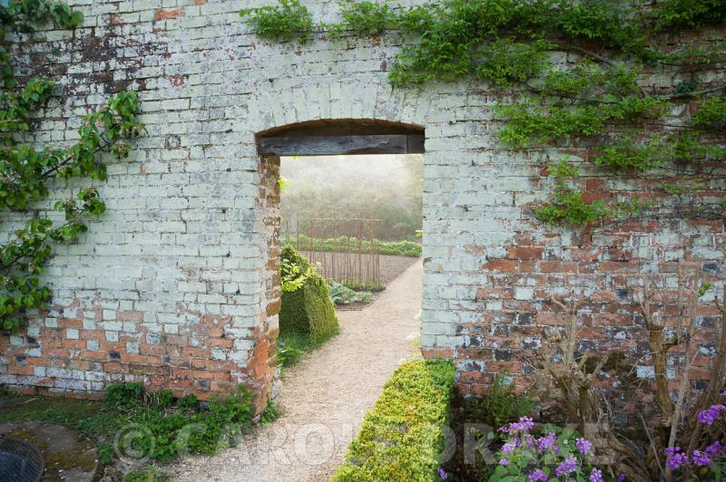 Large Of Walled Vegetable Garden