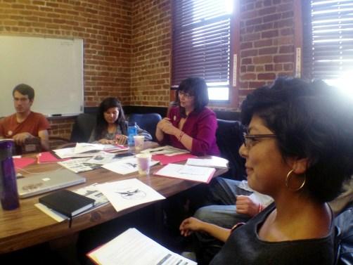 Union negotiator and student Amanda Rhoades negotiates for Bay News Rising student publication fees. | Joe Fitzgerald / Bay News Rising