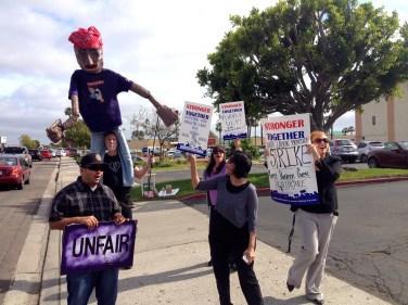 ASLIU members in one-day ULP strike against Purple Communications. Photo courtesy CWA staff 2014.