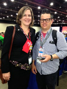 Sara Steffens and her husband, Mike Kepka, attend the CWA Convention 75 in Detroit.  Sara ran for and won the post of CWA Secretary-Treasurer. Photo by Kat Anderson 2015.