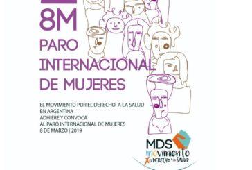 El MDS en Argentina adhiere y convoca al paro internacional de Mujeres 8M