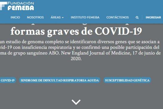 Susceptibilidad genética para formas graves de COVID