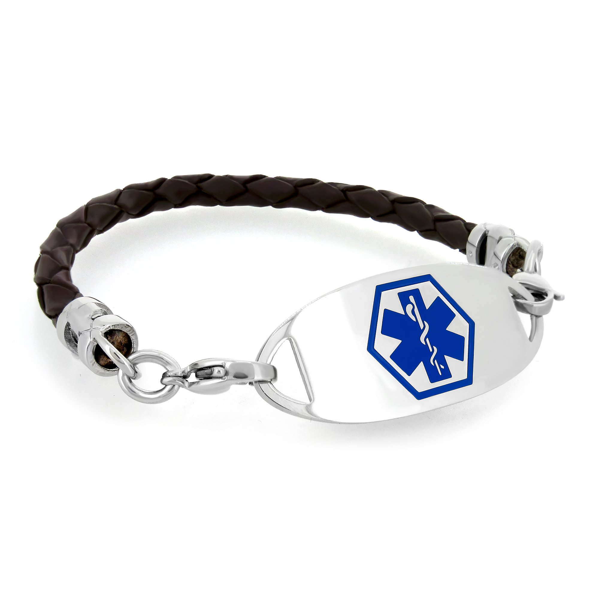 Blue Color Medical Alert Bracelet