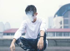 smoking male