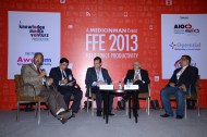 Panel Discussion at FFE 2012 (L-R): K. Hariram - MD (retd.) - Galderma India; Amlesh Ranjan - Deputy Director, Transplant-Renal & Oncology Sanofi; Deep Bhandari - SBU Head, UCB; Mohan Sheshadri - GM & Head, Training & Development, Ranbaxy; Anup Soans - Editor, MedicinMan