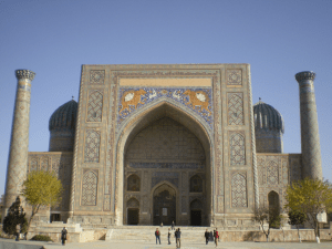 Sherdar Madrasah or School in Samarkand Image