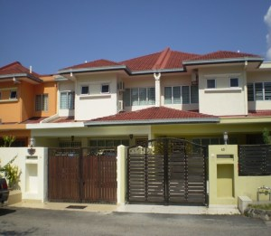 Terrace houses are very popular in Malaysia. Some terrace houses in Kuala Lumpur. Image