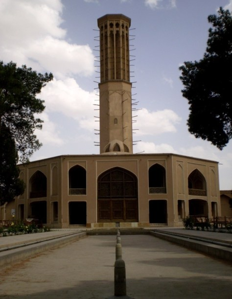 An image of a huge badgir, wind-tower, in Yazd, Iran.