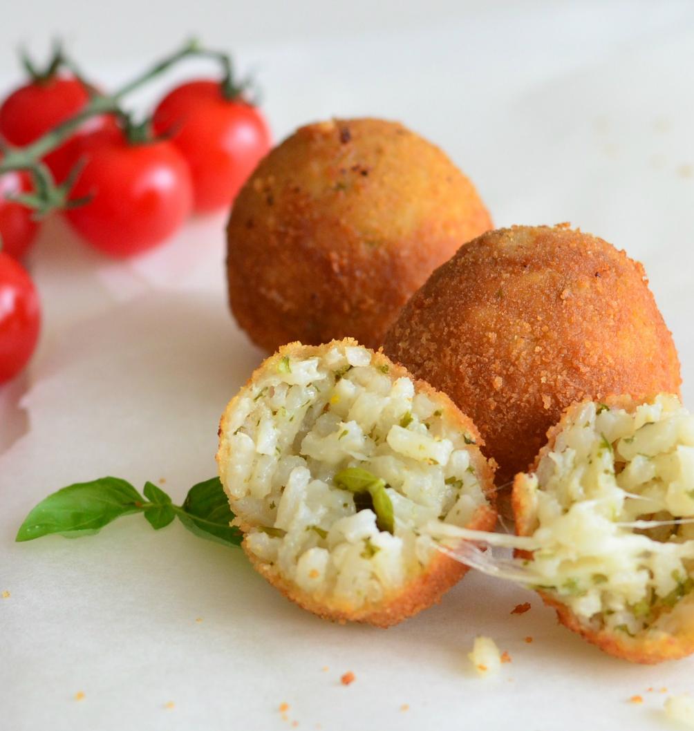 Crispy Stuffed Rice Balls - Mediterranealicious