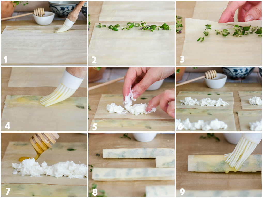 goat cheese cigars step-by-step