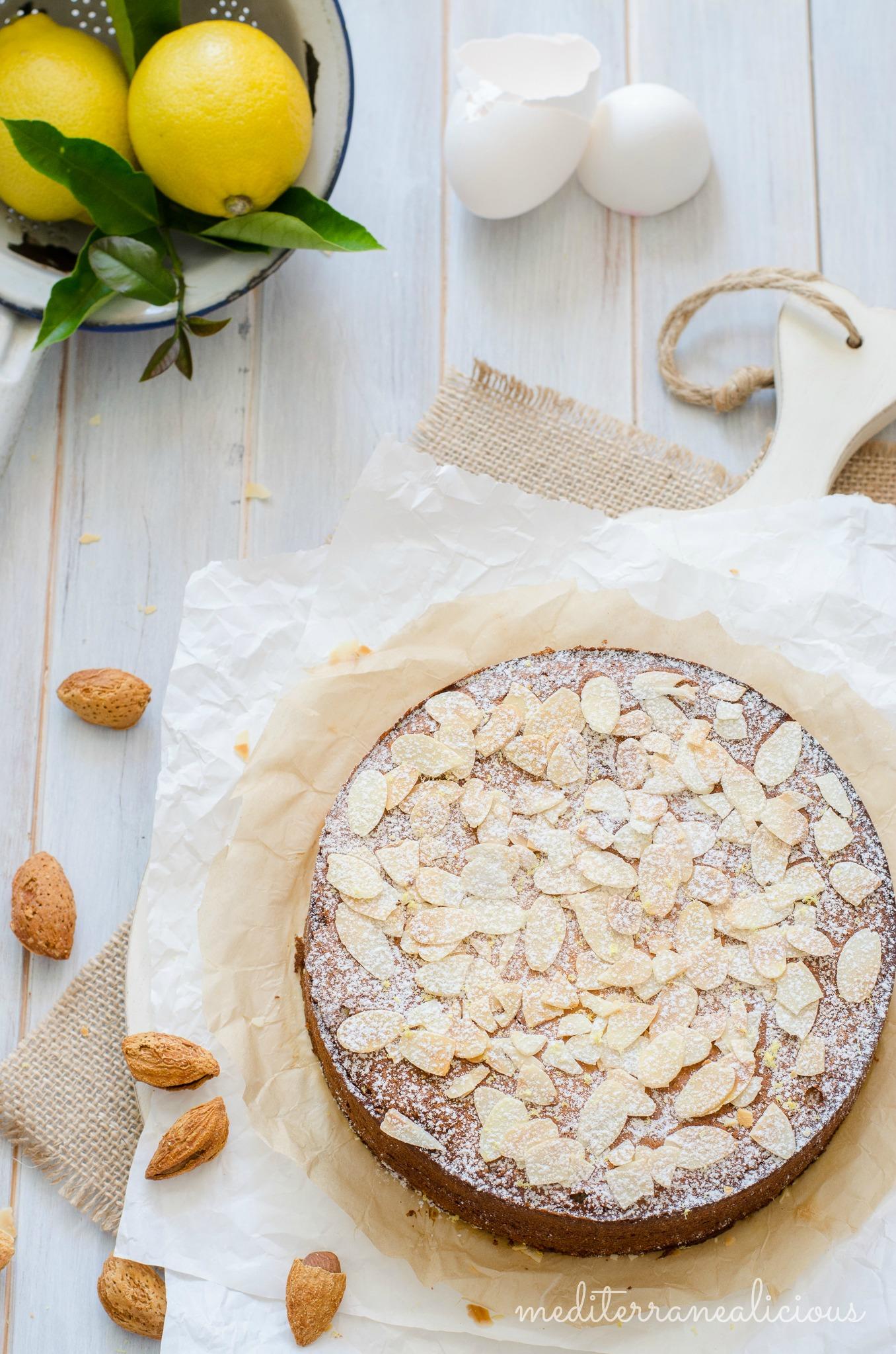 Gluten-free almond ricotta lemon cake